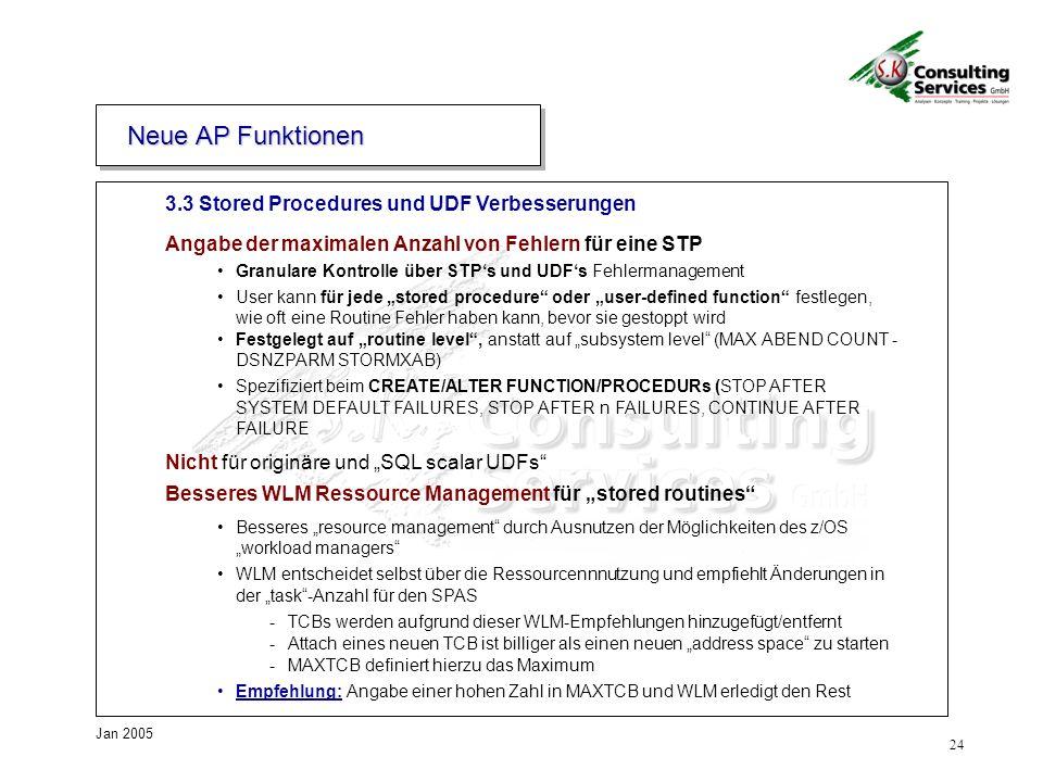 Neue AP Funktionen 3.3 Stored Procedures und UDF Verbesserungen