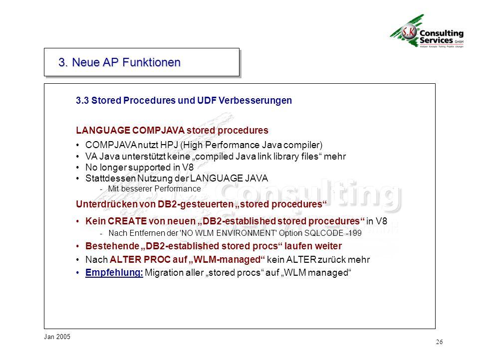 3. Neue AP Funktionen 3.3 Stored Procedures und UDF Verbesserungen