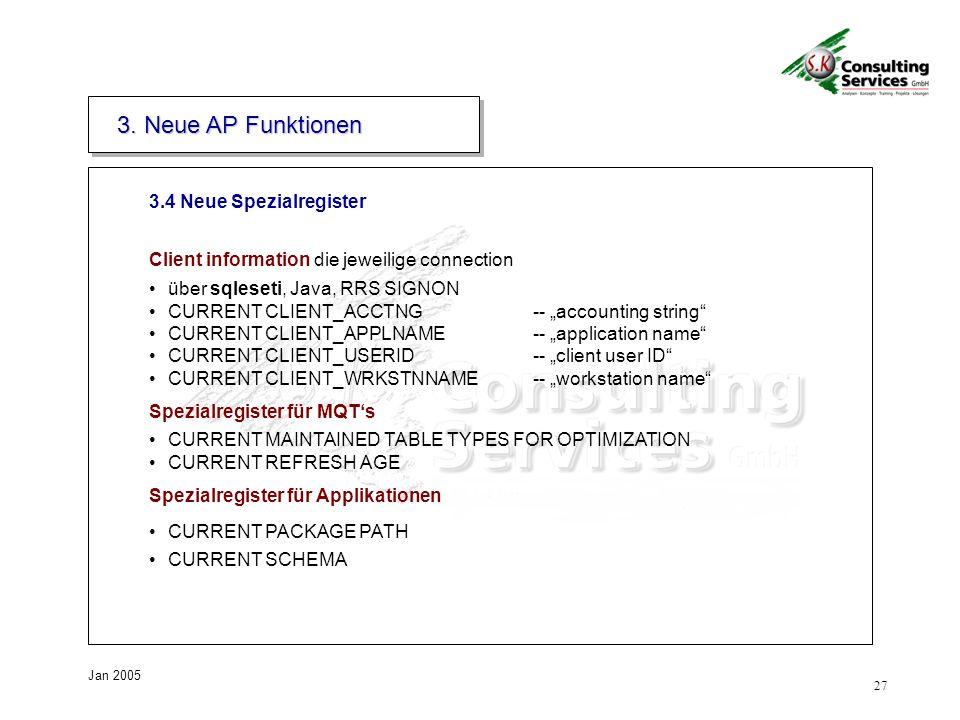 3. Neue AP Funktionen 3.4 Neue Spezialregister