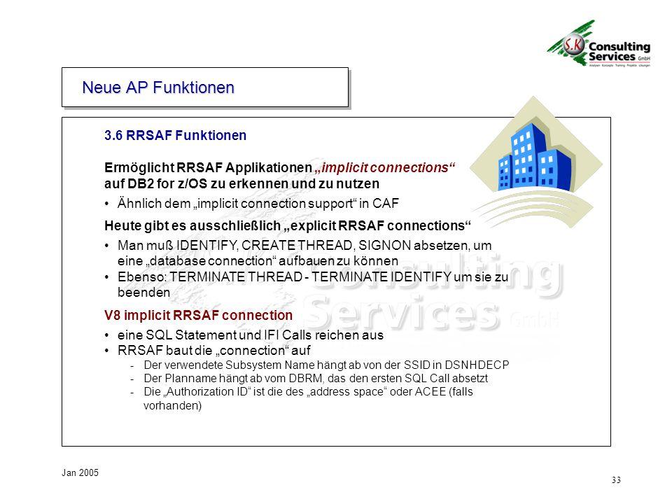Neue AP Funktionen 3.6 RRSAF Funktionen