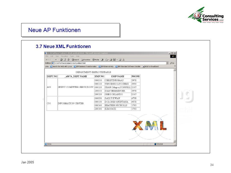 Neue AP Funktionen 3.7 Neue XML Funktionen