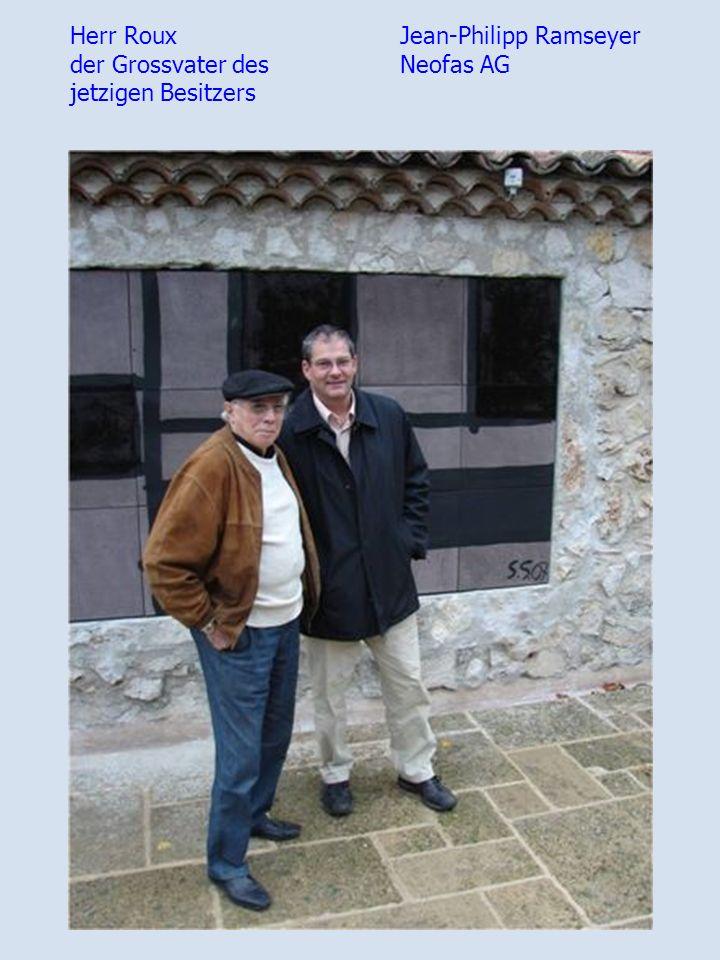 Herr Roux der Grossvater des jetzigen Besitzers Jean-Philipp Ramseyer Neofas AG