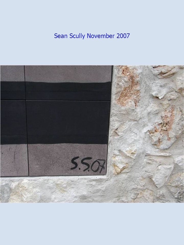 Sean Scully November 2007