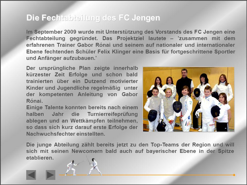 Die Fechtabteilung des FC Jengen