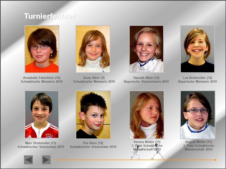 Turnierfechter Annabelle Fälschlein (10) Schwäbische Meisterin 2010