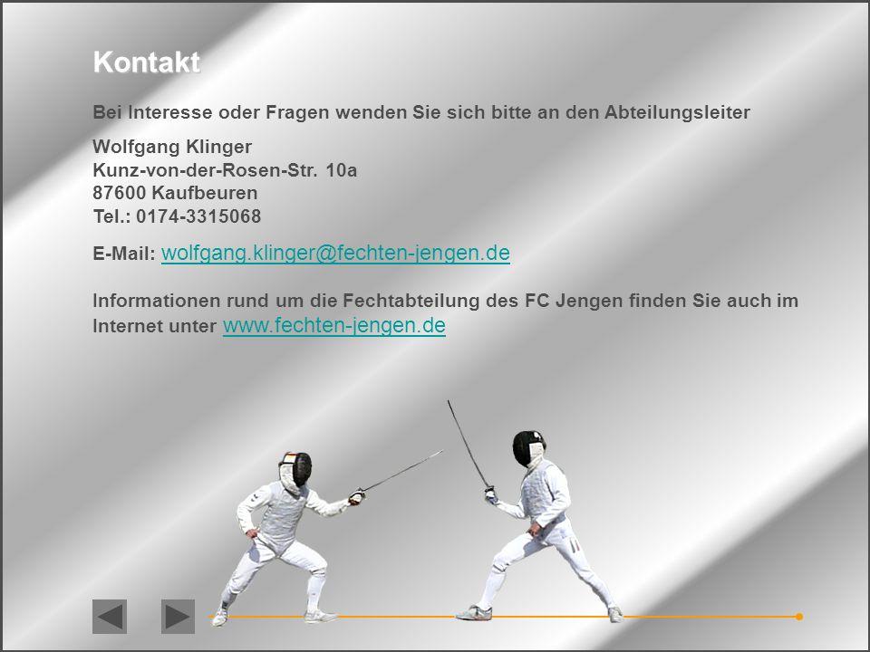 Kontakt Bei Interesse oder Fragen wenden Sie sich bitte an den Abteilungsleiter. Wolfgang Klinger.