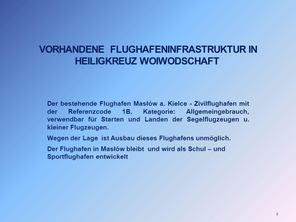VORHANDENE FLUGHAFENINFRASTRUKTUR IN HEILIGKREUZ WOIWODSCHAFT