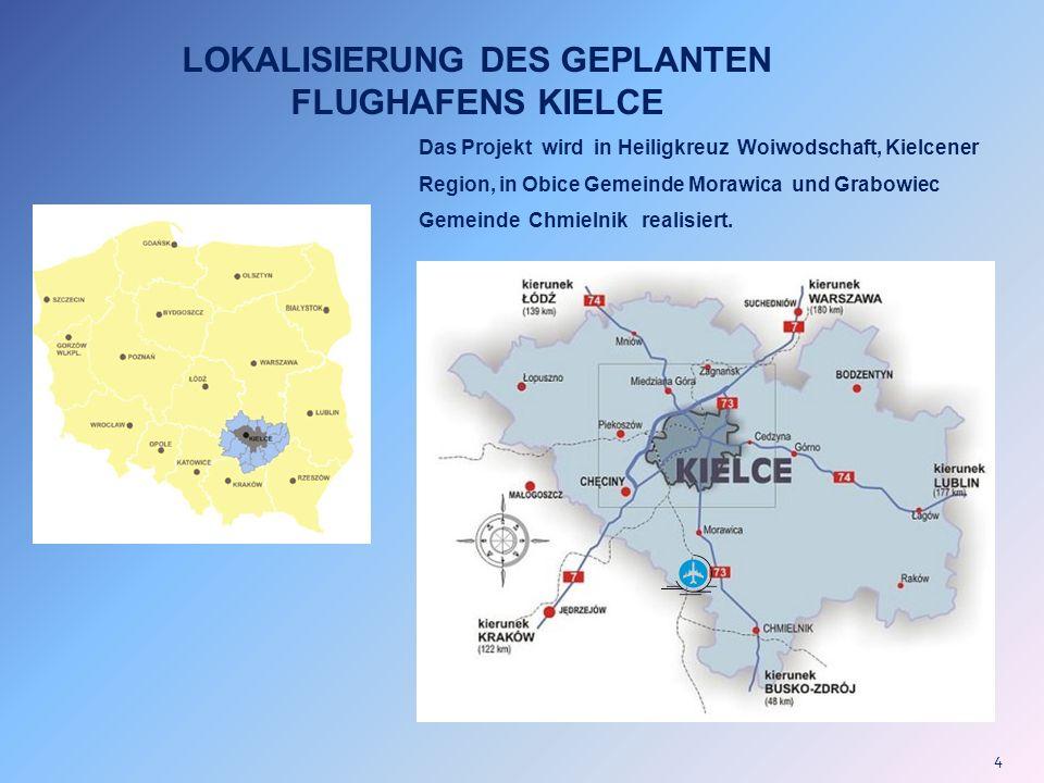 LOKALISIERUNG DES GEPLANTEN FLUGHAFENS KIELCE