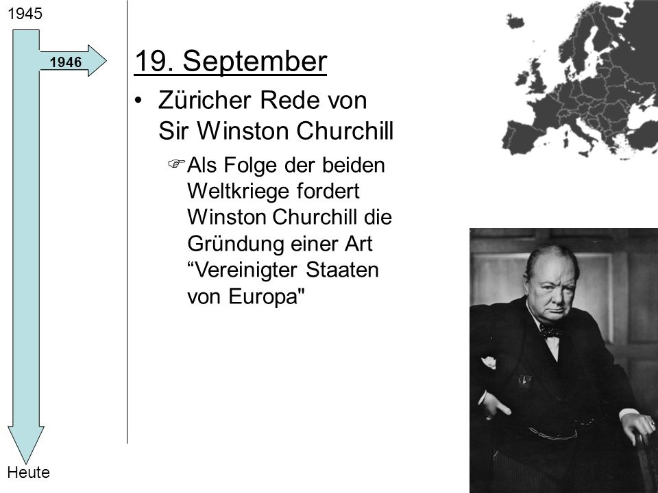 19. September Züricher Rede von Sir Winston Churchill