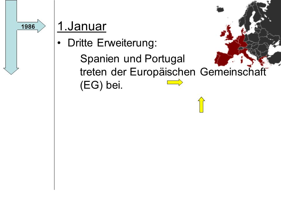 1.Januar Dritte Erweiterung: