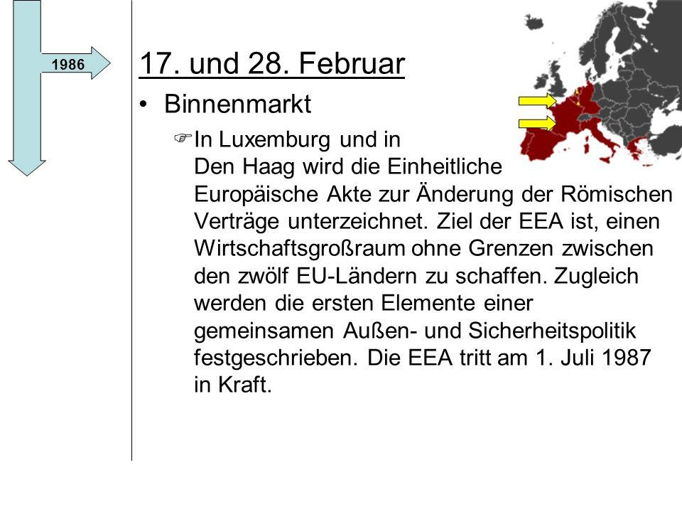 17. und 28. Februar Binnenmarkt