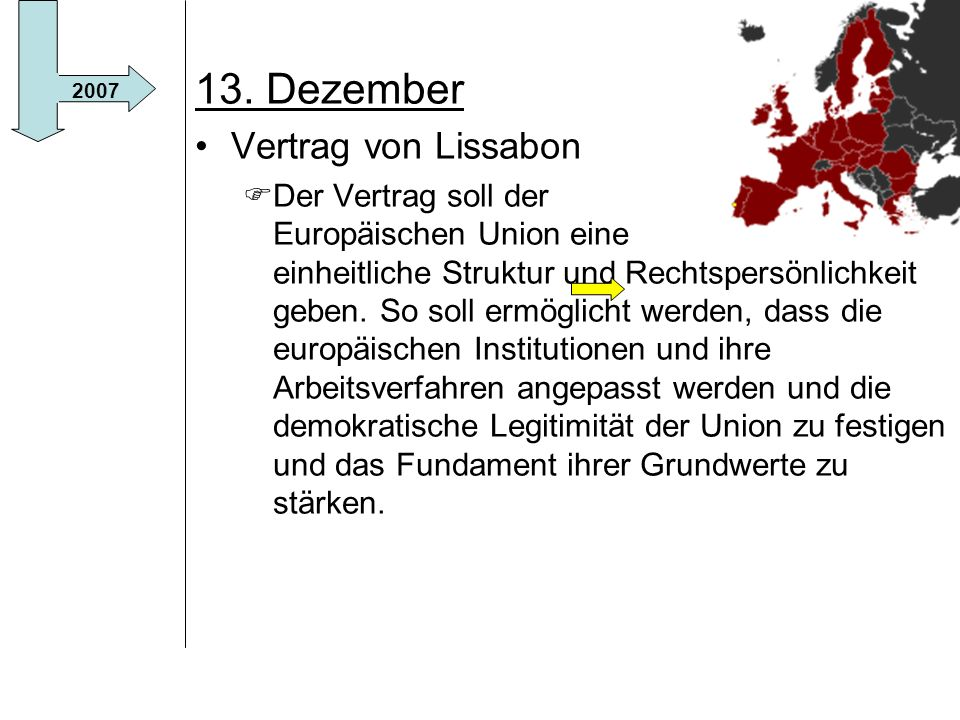 13. Dezember Vertrag von Lissabon