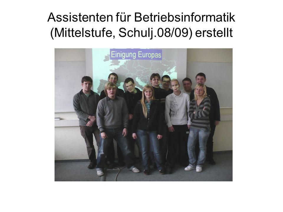 Assistenten für Betriebsinformatik (Mittelstufe, Schulj