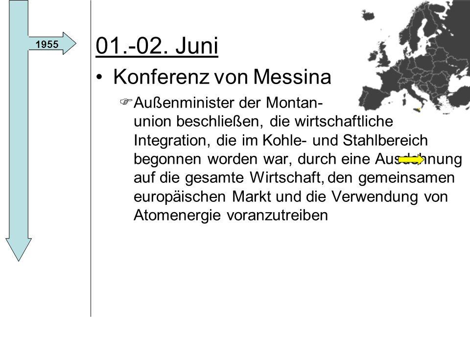 01.-02. Juni Konferenz von Messina