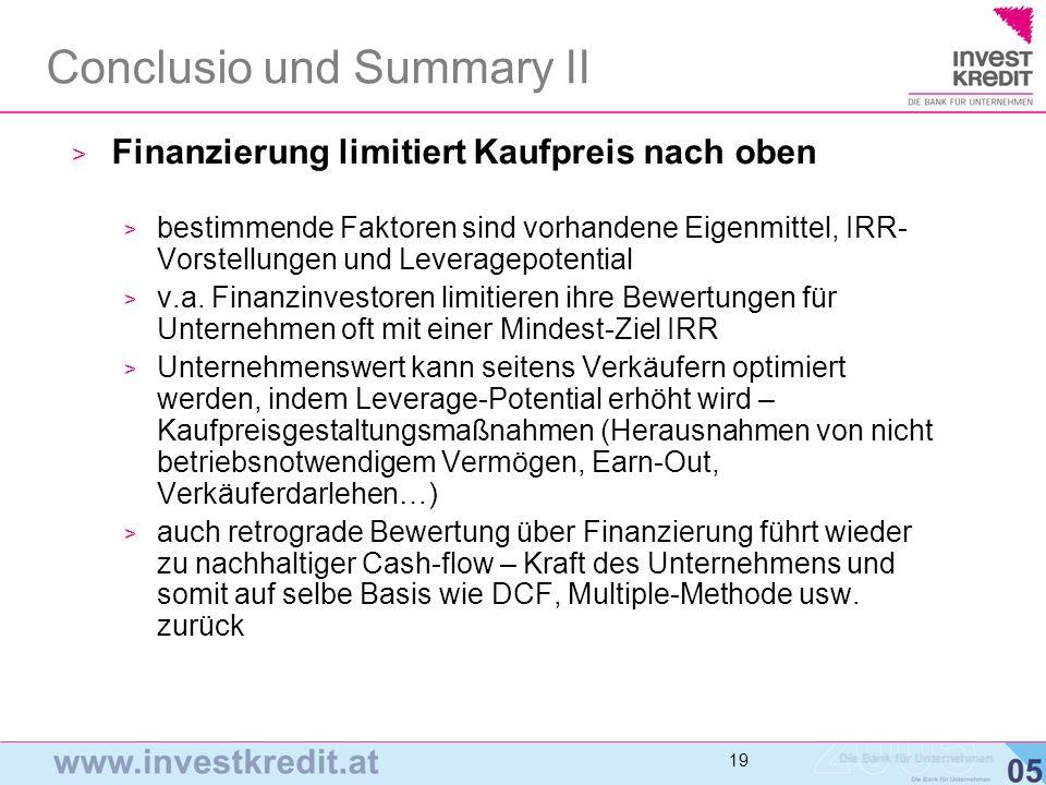 Conclusio und Summary II