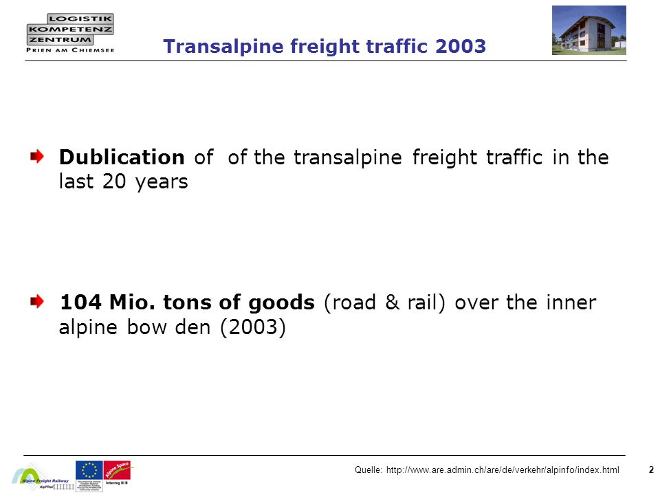 Transalpine freight traffic 2003