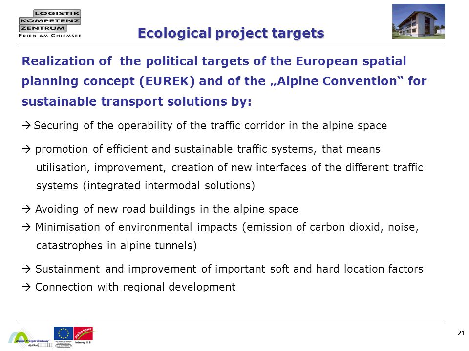Ecological project targets
