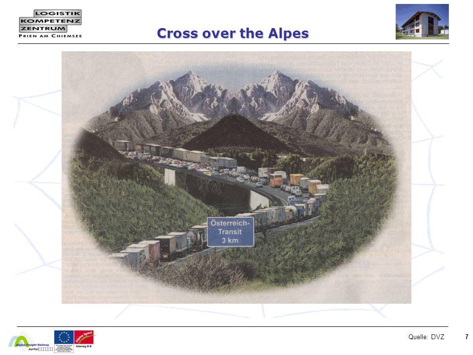 Cross over the Alpes Quelle: DVZ