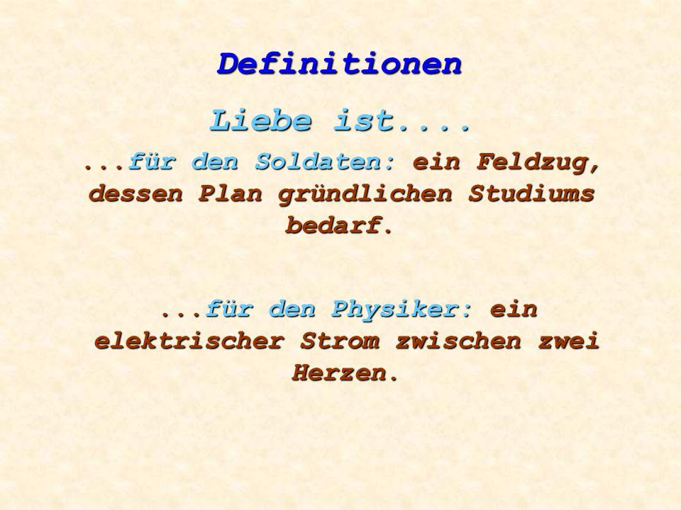 ...für den Physiker: ein elektrischer Strom zwischen zwei Herzen.