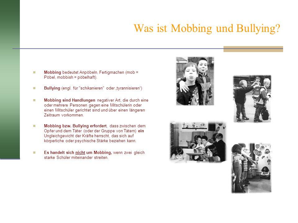 Was ist Mobbing und Bullying