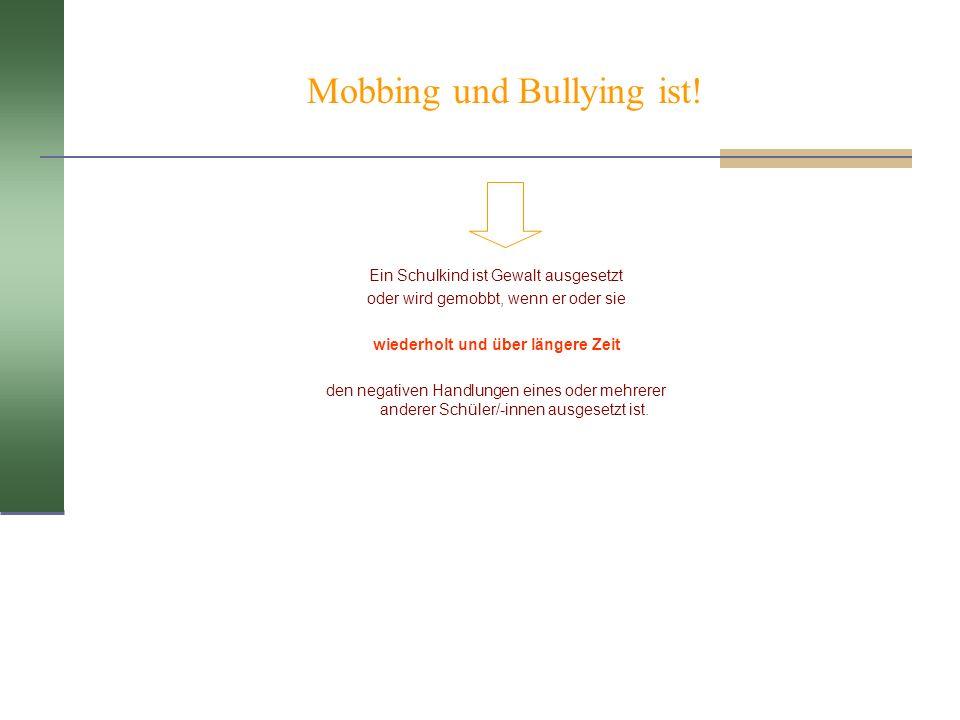 Mobbing und Bullying ist!