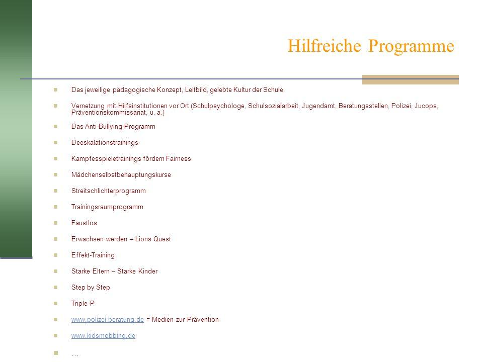 Hilfreiche Programme …