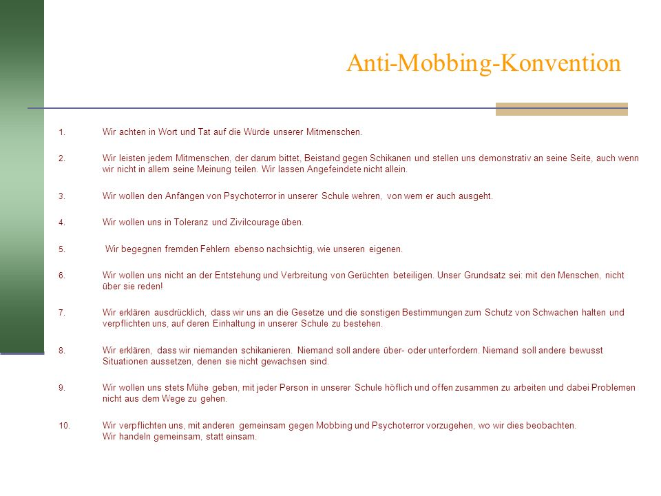 Anti-Mobbing-Konvention