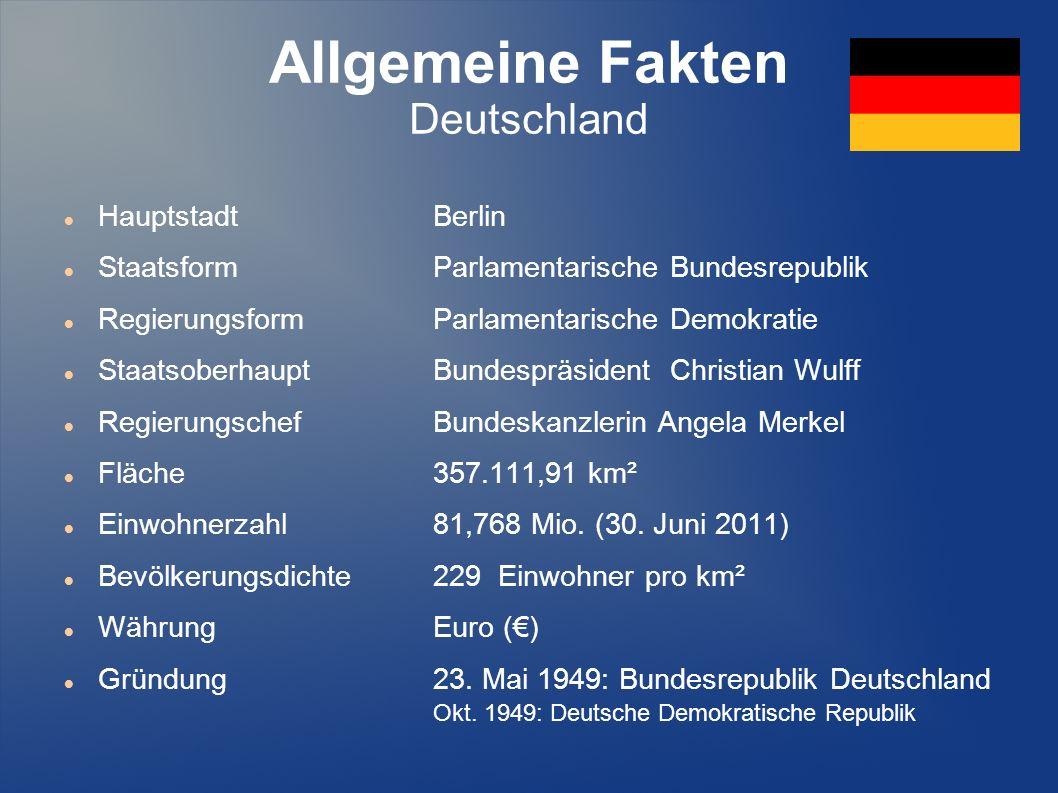 Allgemeine Fakten Deutschland