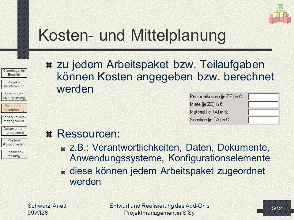 Kosten- und Mittelplanung