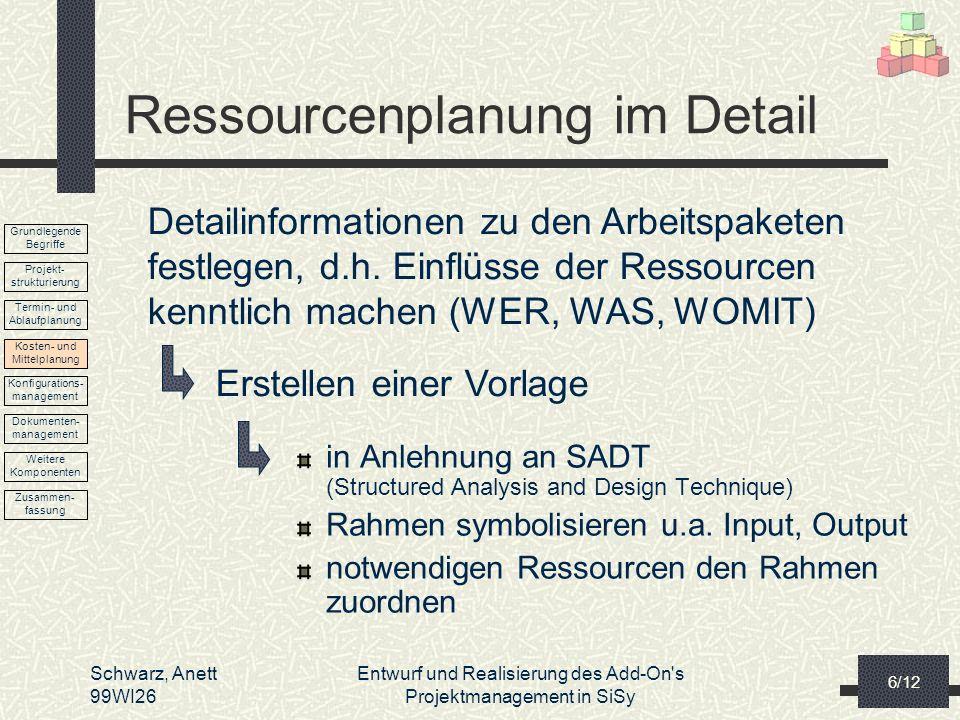 Ressourcenplanung im Detail