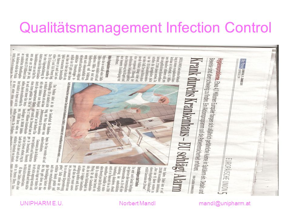 Qualitätsmanagement Infection Control