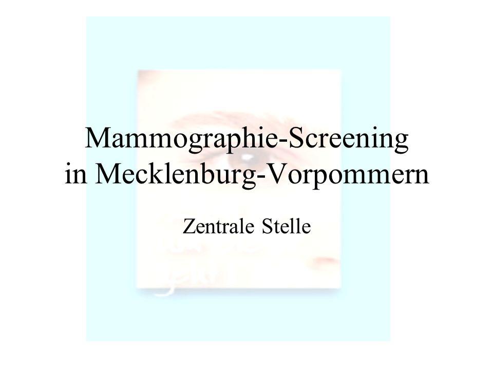 Mammographie-Screening in Mecklenburg-Vorpommern
