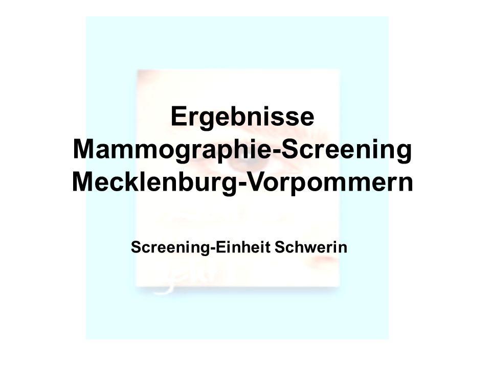 Mammographie-Screening Mecklenburg-Vorpommern