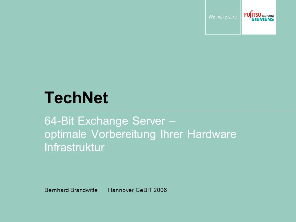 TechNet 64-Bit Exchange Server –
