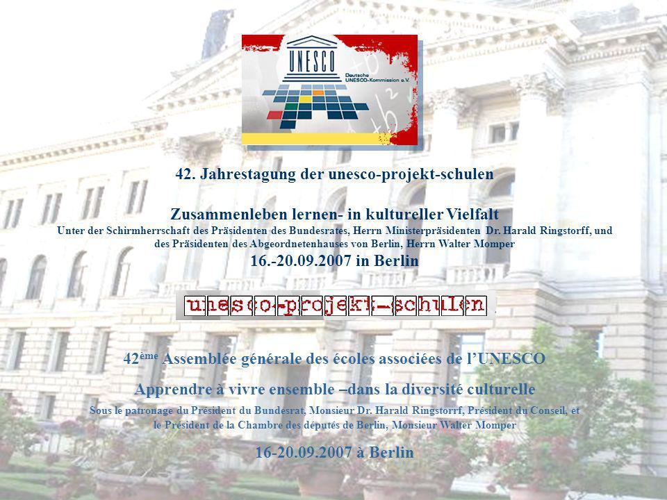 42. Jahrestagung der unesco-projekt-schulen