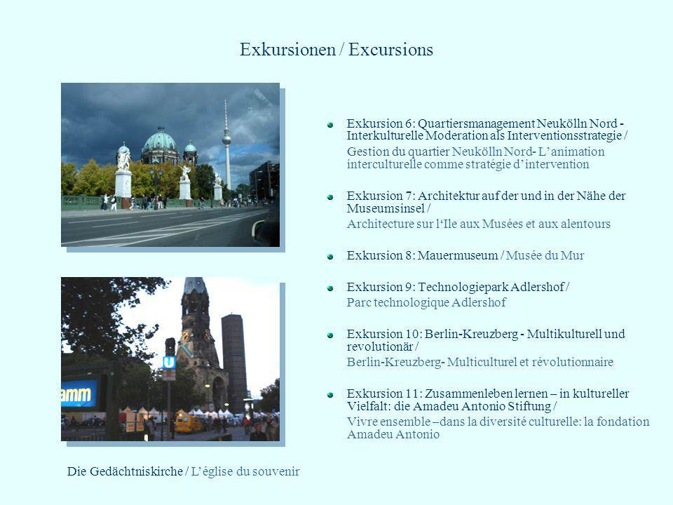 Exkursionen / Excursions