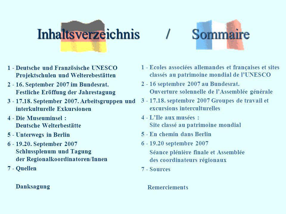 Inhaltsverzeichnis / Sommaire