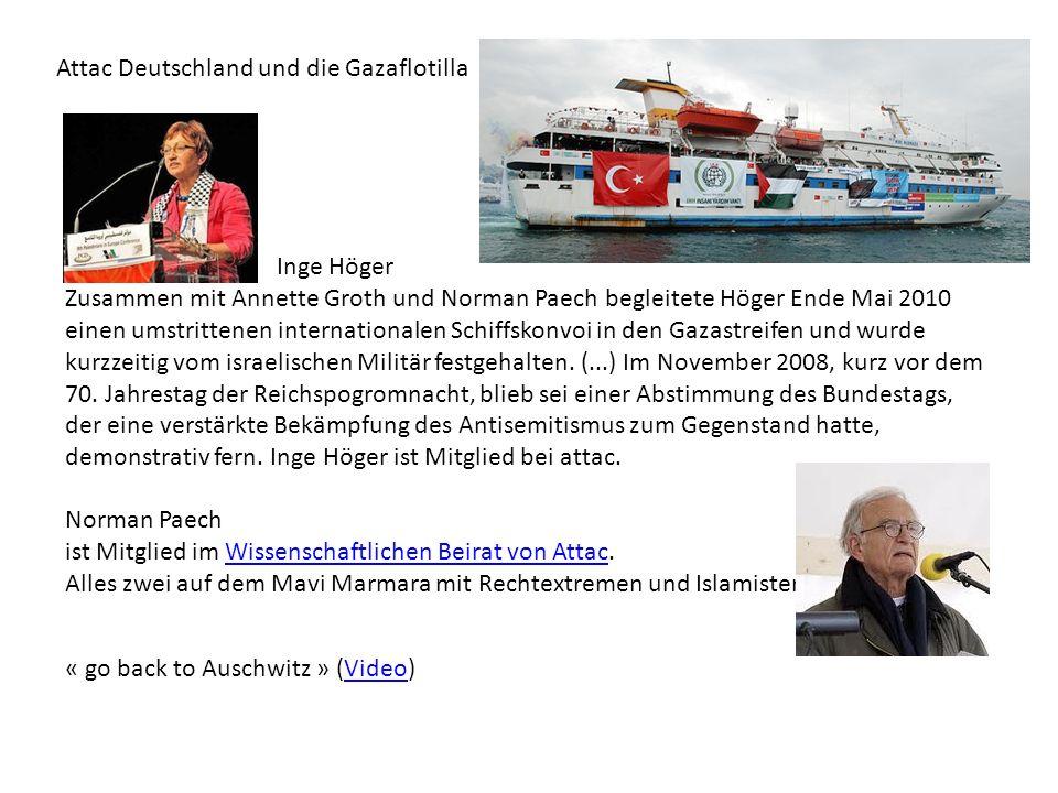 Attac Deutschland und die Gazaflotilla