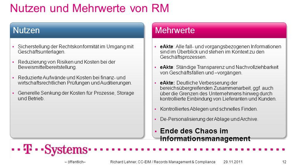 Nutzen und Mehrwerte von RM
