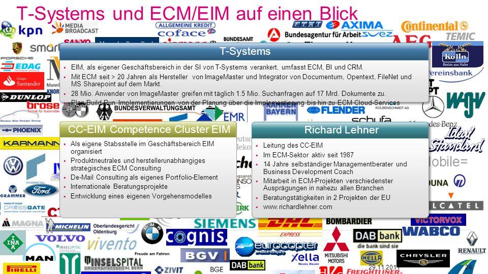 T-Systems und ECM/EIM auf einen Blick
