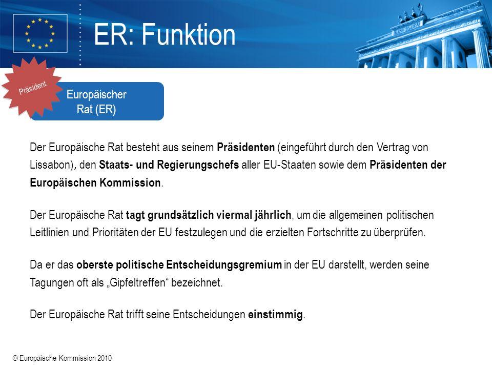 ER: Funktion Europäischer Rat (ER)