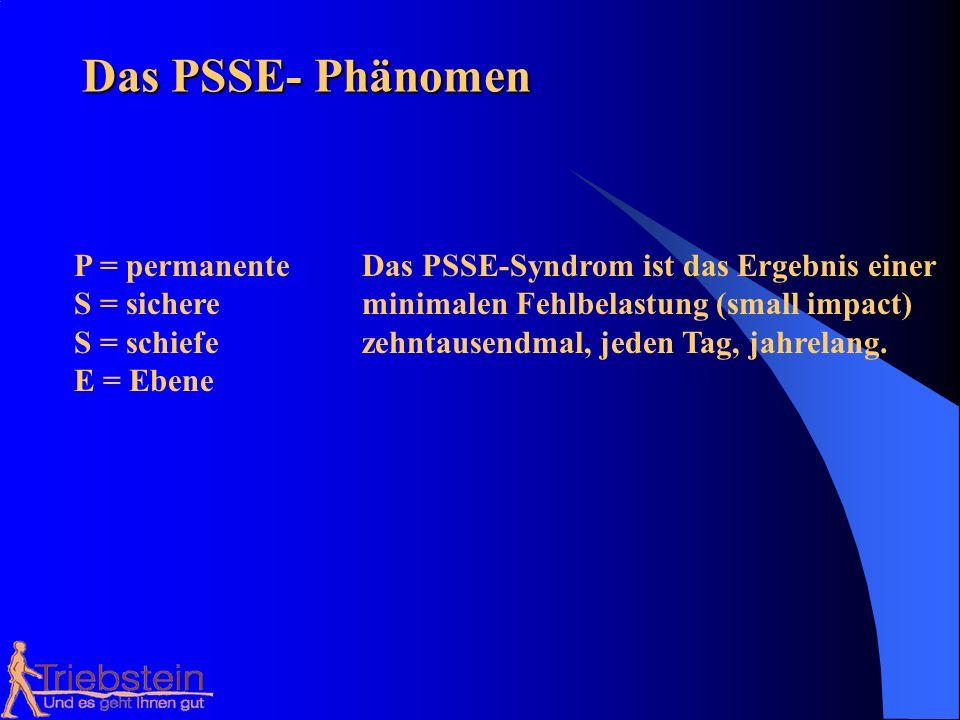 Das PSSE- Phänomen P = permanente Das PSSE-Syndrom ist das Ergebnis einer. S = sichere minimalen Fehlbelastung (small impact)