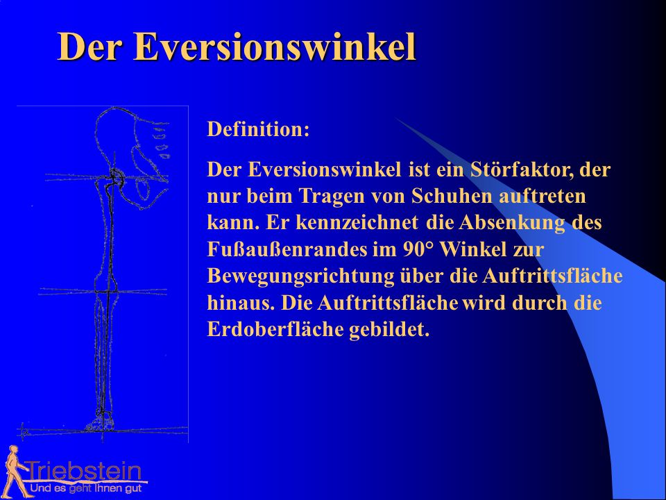 Der Eversionswinkel Definition: