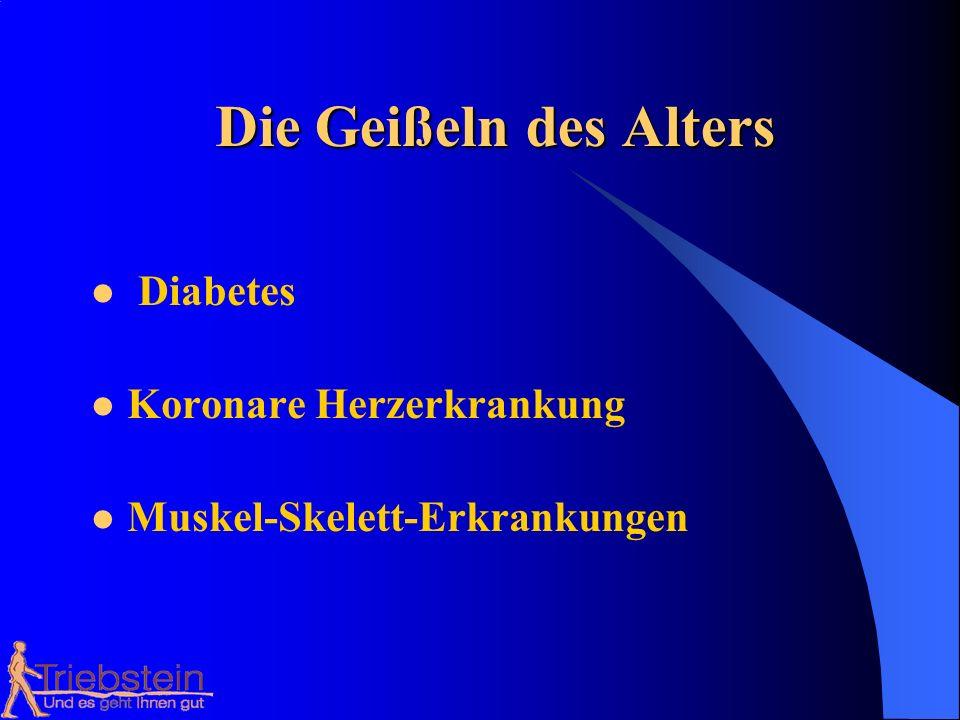 Die Geißeln des Alters Diabetes Koronare Herzerkrankung