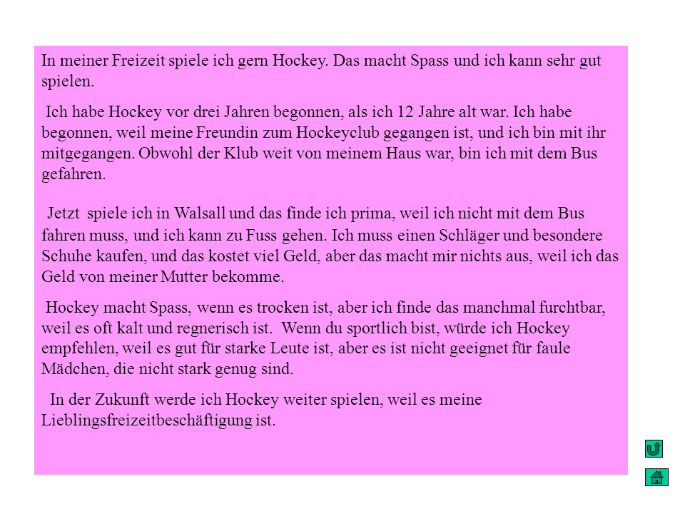 in meine freizeit ich spiele gern hockey ppt video online herunterladen. Black Bedroom Furniture Sets. Home Design Ideas