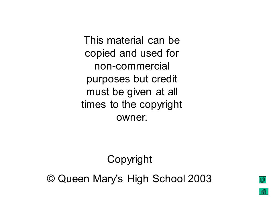 © Queen Mary's High School 2003