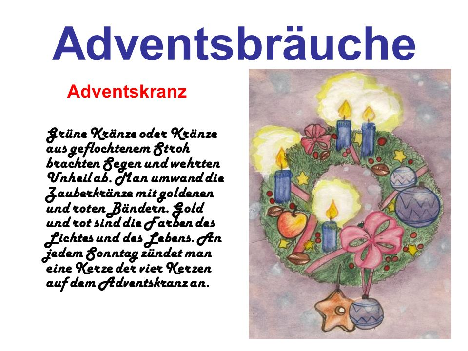 Adventsbräuche Adventskranz