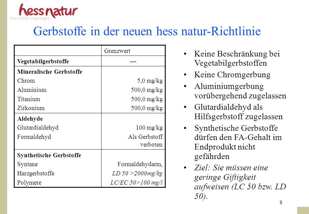 Gerbstoffe in der neuen hess natur-Richtlinie