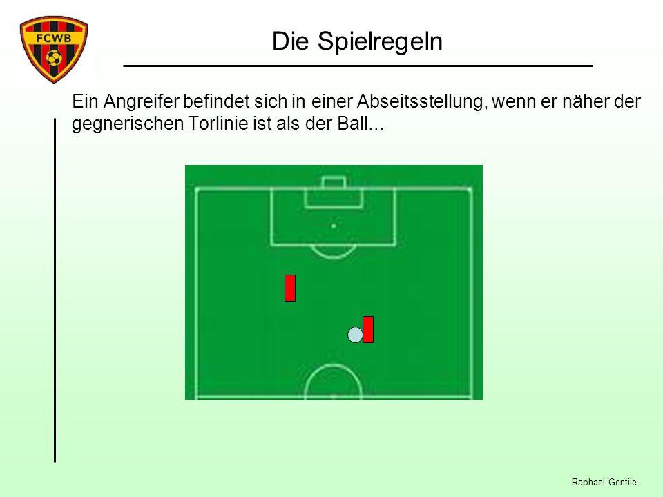 Die Spielregeln Ein Angreifer befindet sich in einer Abseitsstellung, wenn er näher der gegnerischen Torlinie ist als der Ball...