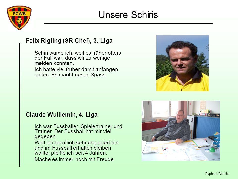 Unsere Schiris Felix Rigling (SR-Chef), 3. Liga